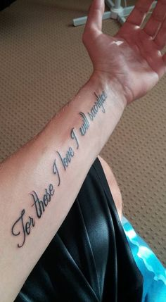I wasn't this on the reverse side of my forearm