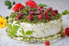 Szpinakowo- malinowy tort Eve, Cheesecake, Food, Pies, Kuchen, Cheesecakes, Essen, Meals, Yemek