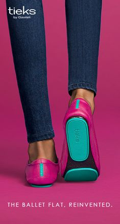 Dare to be bold in Fuchsia Tieks. | Tieks Ballet Flats