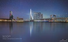 Rotterdam night sky by landogroothuis