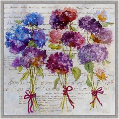 Product Detail : Hydrangea Bouquet Giclee