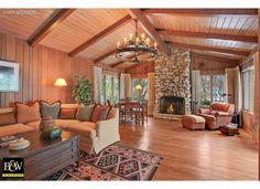 Log cabin living room #DreamHome
