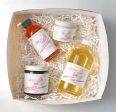 Dear Baby: A wonderful line of all-natural, affordable baby + pregnancy skincare with some  terrific gift sets too.