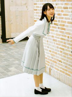 School Girl Outfit, Akb, Japanese Girl, Asian Girl, High Neck Dress, Cute, Kawaii, Outfits, Fashion