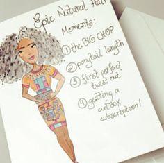 CUTE NATURAL HAIR CARD BY URBANLUXE404