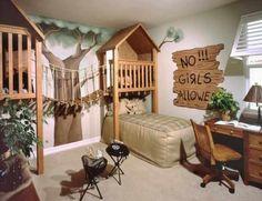 Treehouse-Theme-Bedroom-Interior-Design - PapaPraat