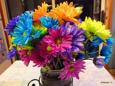 dyed daisies | Color Slap - a gallery on Flickr