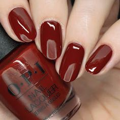 You'll know the name of this stunning deep burgundy creme polish after just one wear on your nails. Collection: Peru Gorgeous nails by nailpolishsociety, and copycatclaws herbst OPI - Como Se Llama? Fall Pedicure, Pedicure Colors, Manicure Y Pedicure, Pedicure Ideas, Pedicures, Opi Nail Polish Colors, Fall Nail Colors, Opi Nails, Maroon Nail Polish