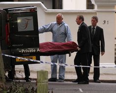 Body of Amy Winehouse carried from London home