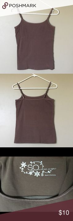 {SO} Brown Camisole Classic brown camisole, worn only a few times, no damage, and in excellent condition. SO Tops Camisoles