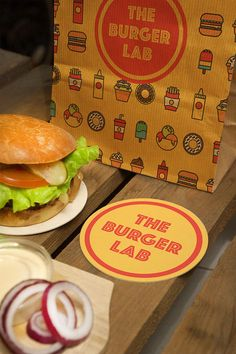 » THE BURGER LAB on Behance - Great icons. Simple Design. Cool type.