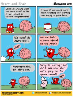 Heart and Brain...and stomach.