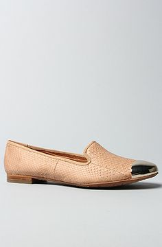 The Aster Shoe in Taupe Rose and White Gold Toe Cap by Sam Edelman