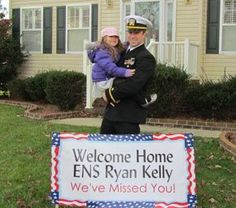 Anabel Polanco Welcomes Home Husband Staff Sergeant Polanco. This would be awesome to do for Brandon