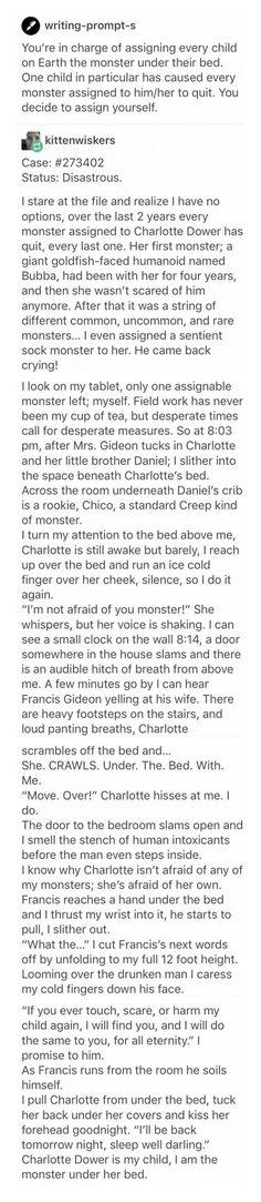 I'm not afraid of you, monster. [Long read] http://ibeebz.com