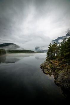 misty lake by Chris Zielecki on flickr (Norway, I think)