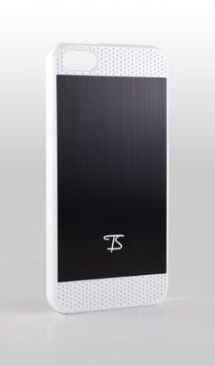 TS iPhone 5 Case Hülle Schutzhülle Cover Etui - Alu gebürstet SCHWARZ mit weißem Rahmen von TS Management, http://www.amazon.de/dp/B00AACXWTO/ref=cm_sw_r_pi_dp_hwg1qb1XWGW38