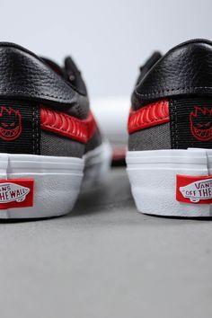 Vans x Spitfire Style 112 Pro Black & Red Skate Shoes   Mens