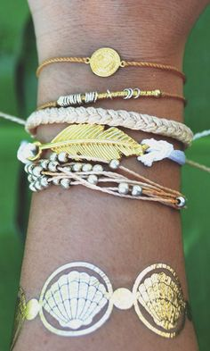 Flash Tats and Gold Accessories - Perfect for Music Festival Fashion