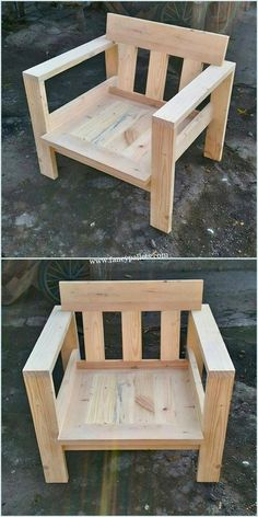 New wooden furniture design woodworking plans ideas Ideas Wooden Sofa, Wooden Pallets, Wooden Furniture, Chair Design Wooden, 1001 Pallets, Wooden Chairs, Recycled Pallets, Diy Wood Projects, Furniture Projects