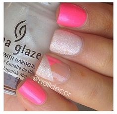 2 colors Nails | See more at http://www.nailsss.com | See more nail designs at http://www.nailsss.com/nail-styles-2014/