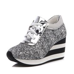 Best Platfrom Shoes Woman 7 5 cm Wedges Casual Height Increasing Trainers Fashion Sequins Women Shoes Sping. Click visit to read descriptions