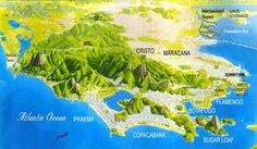 Map of the different areas of Rio. #RioMap