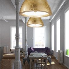 Willy 60 3 Light Pendant in Gold - Homeclick Community