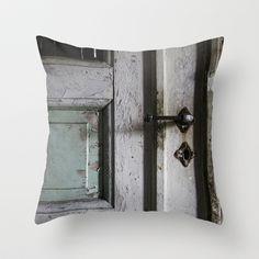 Door Throw Pillow by Hanne Jørgensen - $20.00