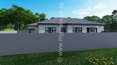 3 Bedroom House Plan MLB 008.1S - My Building Plans South Africa My House Plans, Bedroom House Plans, My Building, Building Plans, Architect Fees, Guest Toilet, Double Garage, Open Plan Living, Windows And Doors