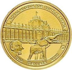 Kingdom of Belgium - 50 Euro 2010 Elephant and mask before Afrikamuseum. 6.22 g. 999 / 1000. in original casket with certificate. KM 306, nice 268. only issued 2475 provenance. proof coinage  Dealer Teutoburger Münzauktion & Handel GmbH  Auction Minimum Bid: 200.00EUR