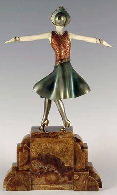 Demetre Chiparus - Art Déco - Sculpture 'Danseuse Hongroise'