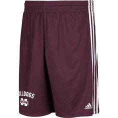 adidas Men's Mississippi State Bulldogs Maroon Arch Shorts, Size: Medium, Team