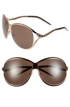 6f587582cee Roberto Cavalli  Cebalrai  65mm Enamel Detail Oversized Sunglasses  available at  Nordstrom Oversized Sunglasses