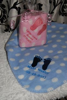 Personalised baby blanket by ThreadsandButtons on Etsy, £5.00
