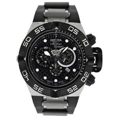 4b47db387c79 Invicta Subaqua Noma IV Black Dial Chronograph Stainless Steel Mens Watch  6564