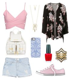 Untitled #465 by sara-scagnoli on Polyvore featuring moda, Topshop, MANGO, Converse, Aéropostale, BCBGeneration, Uncommon and OPI