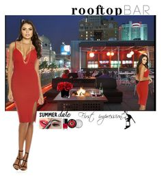 """""""Rooftop Bar Summer Date"""" by mommastephud ❤ liked on Polyvore featuring Libbey, Stuart Weitzman, Fiebiger, Chanel, The Body Shop, Givenchy, Gorjana, Hervé Gambs, summerdate and rooftopbar"""