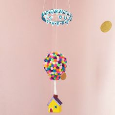 Balloon House Mobile UP Movie Hot Air Balloon Mobile Baby
