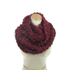 Knit Infinity Scarf Circle Scarf Hand Knit by ArlenesBoutique