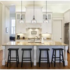 28 best pendant lighting above kitchen island images on pinterest rh pinterest com Black Pendant Lights for Kitchen Island White Kitchens with Black Pendant Lights