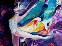 Não são loucuras,são emoções que veio assim do nada! São músicas visíveis! Visible songs acrilic on canvas by Danillo Sena