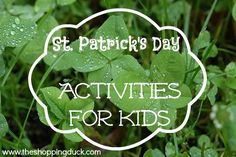 The Shopping Duck - St Patricks Day Activities for Kids
