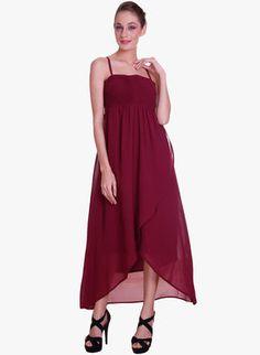 Maroon Dresses for Women - Buy Maroon Women Dresses Online in India