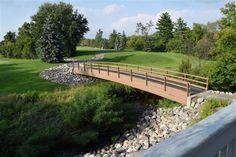 The bridge at Glen Oaks Golf Outing, Glen Oaks, Slate Roof, English Style, Wedding Bells, Golf Courses, Bridge, Garden, Outdoor