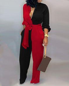 IVRose | Women's Clothing, Jumpsuits, Jumpsuits $31.99 Denim Jumpsuit, Printed Jumpsuit, Satin Jumpsuit, Trend Fashion, Fashion Outfits, Womens Fashion, Dark Fashion, Style Fashion, Plus Size Jumpsuit
