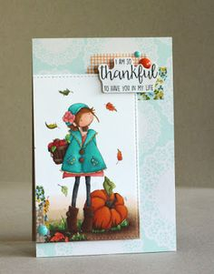 Featuring Stamping Bella's Tiny Townie Fay Loves Fall SKU 726123, available at www.addictedtorubberstamps.com. Card found on Alice's {Little} Wonderland.
