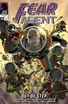 Fear Agent - One of the coolest covers. Creepy Art, Comic Book Covers, Dark Horse, Marvel Characters, Cyberpunk, Comic Art, Character Art, Comics, Astronaut