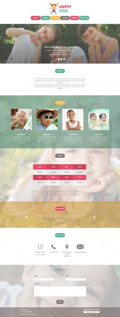 Daycare PSD Website Template by @Graphicsauthor