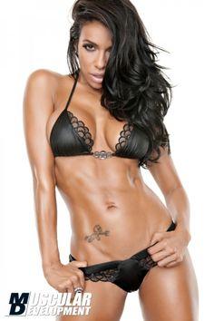 Sexy model muscle bikini nude fitness girls